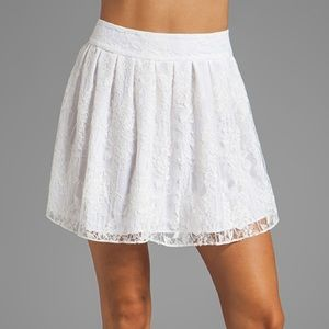 Alice and Olivia Rei Lace Skirt